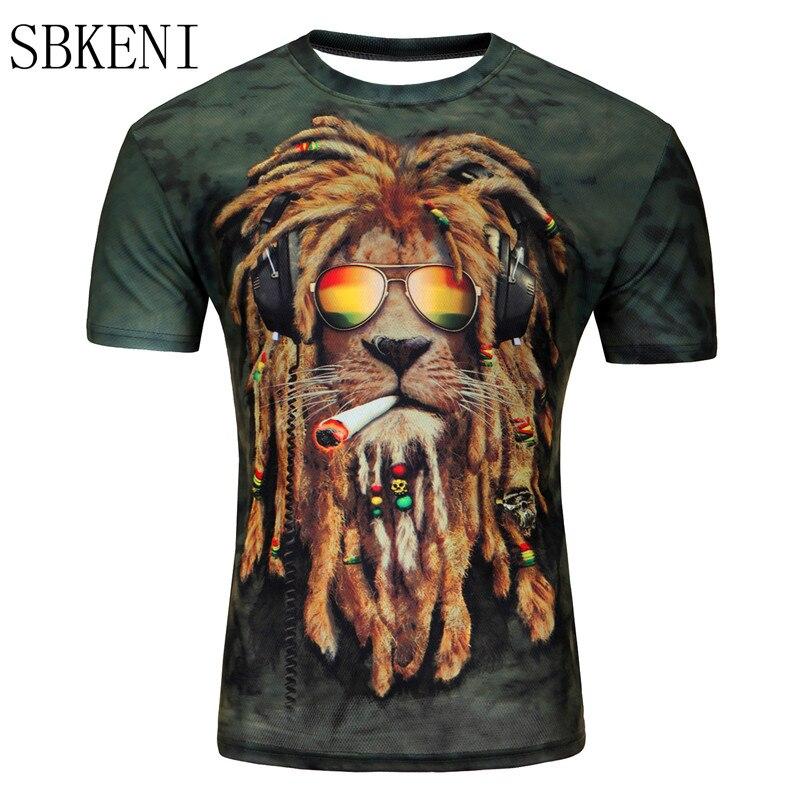 2018 sommer Stil Tier Kreative 3D T-Shirt Blitz/rauch lion/lizard/wasser tröpfchen/Pilz wolke 3D gedruckt T Hemd M-4XL