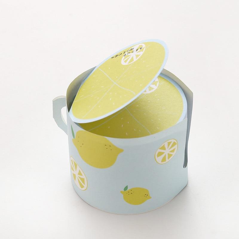 Coloffice Kawaii fruta taza patrón etiqueta forma estudiantes ...