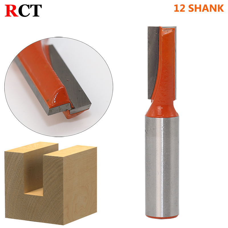 Bottom Cleaning Dado Router Bit carbide end mill,tungsten steel woodworking milling cutter router bit,12Shank 1pc durable mayitr cnc carbide alloy woodworking milling cutter straight end 1 2 shank 2 1 4 dia bottom cleaning router bit