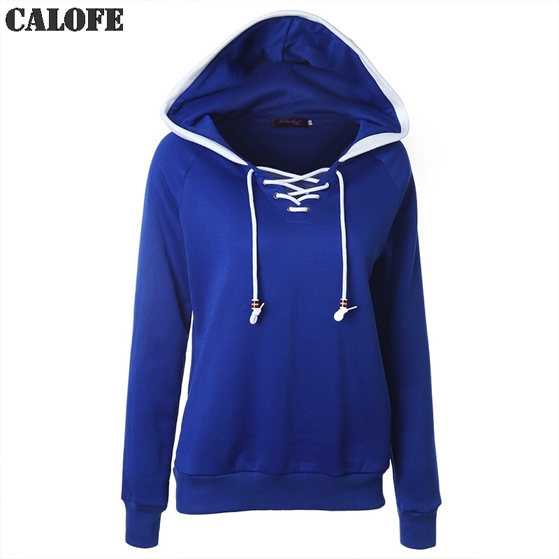 CALOFE Exercise Lacing Hoodies Training Sweaters Women Hooded Sweatshirt Long Sleeve Running Pullovers Outdoor Sportswear Z30