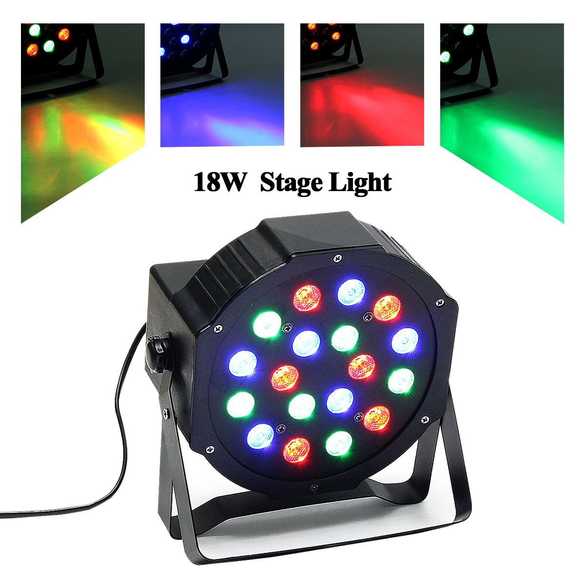 Professional 18 LED RGB Night Light DMX512 Stage Lighting Effect Strobe Projector DJ Disco Party Club Bar Show Decor Lamp mini rgb led crystal magic ball stage effect lighting lamp bulb party disco club dj light show lumiere