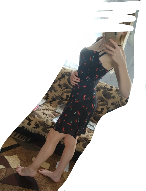 Allover Cherry Print Cami Dress Women Spaghetti Strap Sleeveless Zipper Weekend Casual Dress Loose Short Dress photo review