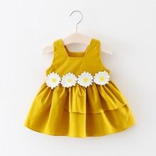 Kid New Fashion Casual Summer Cute Baby Child Round Neck Mini Dress