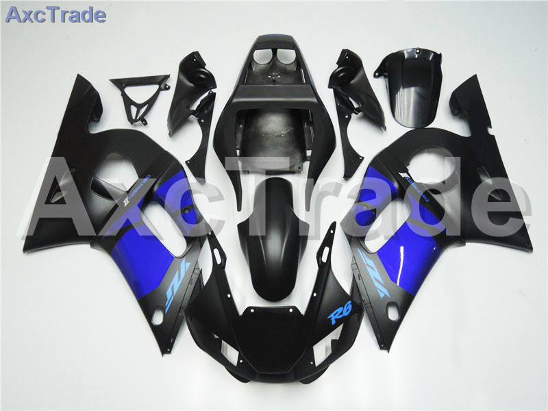 Motorcycle Fairings Kits For Yamaha YZF600 YZF 600 R6 YZF-R6 1998-2002 98 - 02 ABS Injection Fairing Bodywork Kit Blue Black high quality abs fairing kit for yamaha r6 1998 1999 2000 2001 2002 yzf r6 yzf r6 98 02 yellow white black fairings set nx27