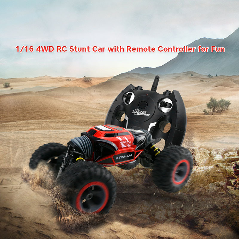 RC Car 4WD Double-sided 2.4GHz One Key Transformation All-terrain Vehicle Varanid Climbing Car Remote Control Truck