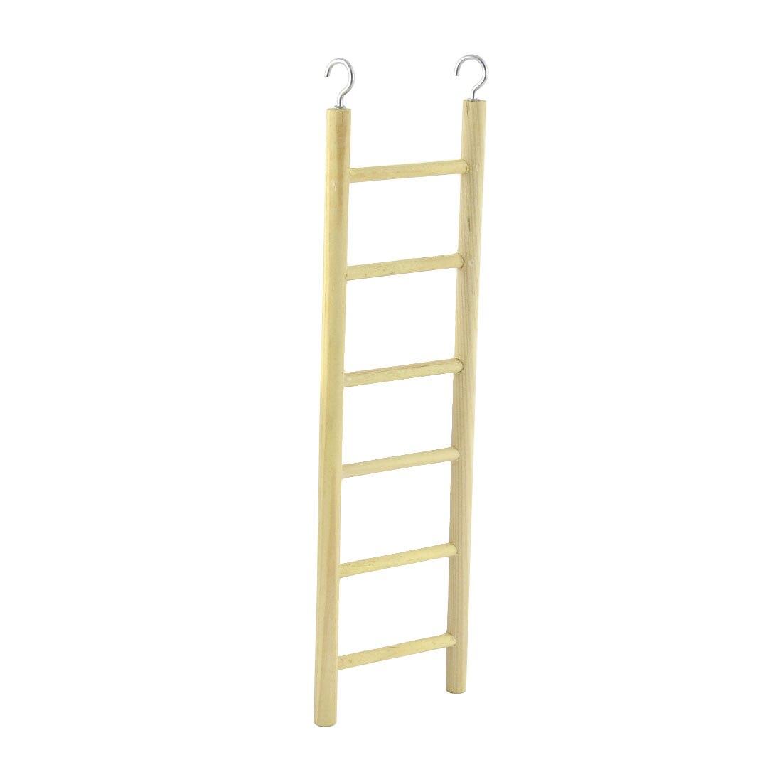 uxcell budgie canario pjaro de metal gancho de juegos juguetes de madera escalera de pasos
