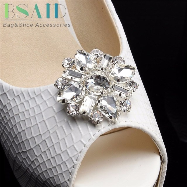 Bsaid 1piece crystal shoe clips sparkle rhinestone decorative bsaid 1piece crystal shoe clips sparkle rhinestone decorative wedding bridal diamante crystal shoes decoration accessories women junglespirit Image collections