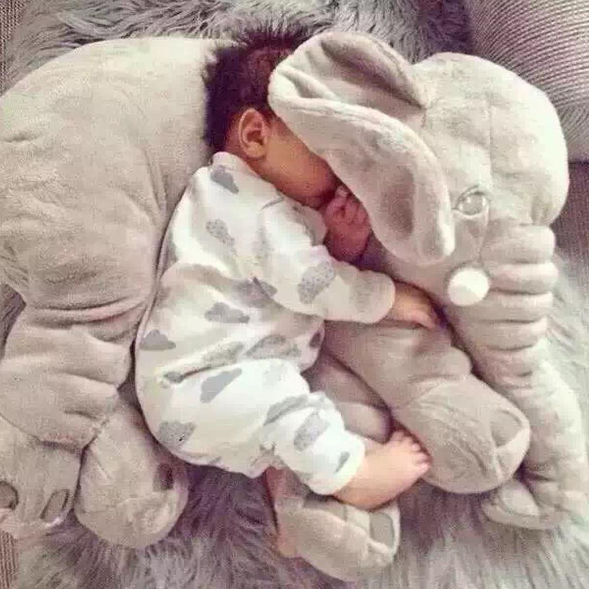 Baby Kids Plush Elephant Sleep Pillow Infant Soft For Sleeping Lumbar Cushion Pillow Toys Baby Nap Sleep Bedding bookfong drop shipping 40cm infant soft appease elephant pillow baby sleep toys room decoration plush toys for kids