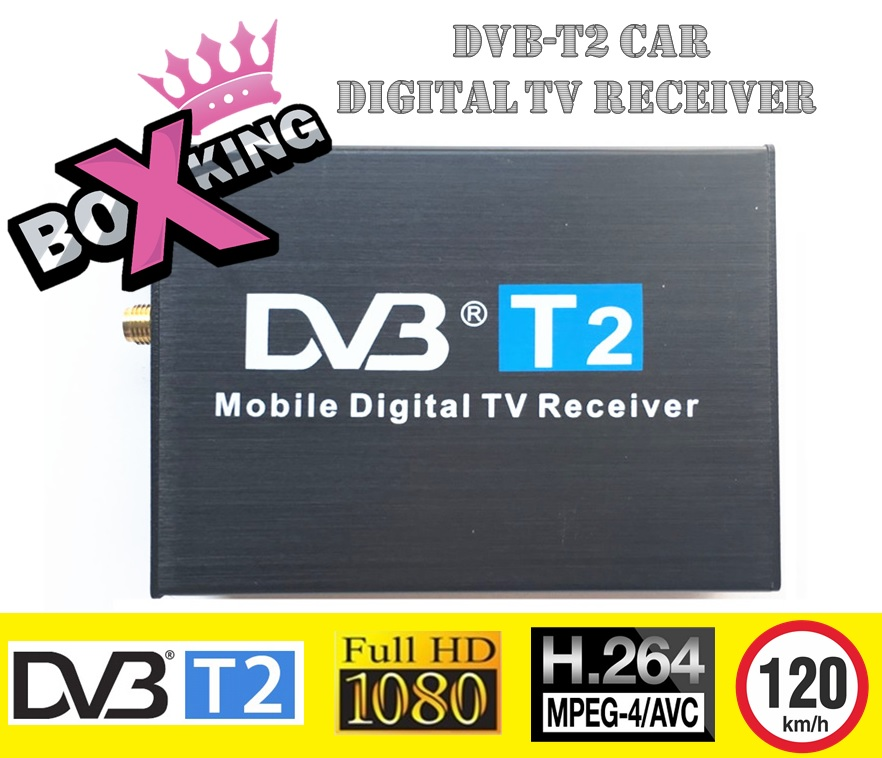 DVB-T2 Car Receiver High Speed 120 km/h Double Antenna H.264 MPEG4 External Mobile USB Digital Car TV Tuner TV Box Car DVB T/T2 wekeao box dvb t2 atsc isdb t dvb tmpeg 4 tuner dual antenna car hd digital tv turner receiver auto tv high speed two chip