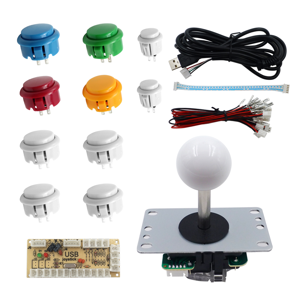 US $18 52 5% OFF|SJJX DIY Kit Raspberry Pi Windows Controller PC MAME  Arcade Game Retropie Button Arcade Controller Joystick-in Joysticks from