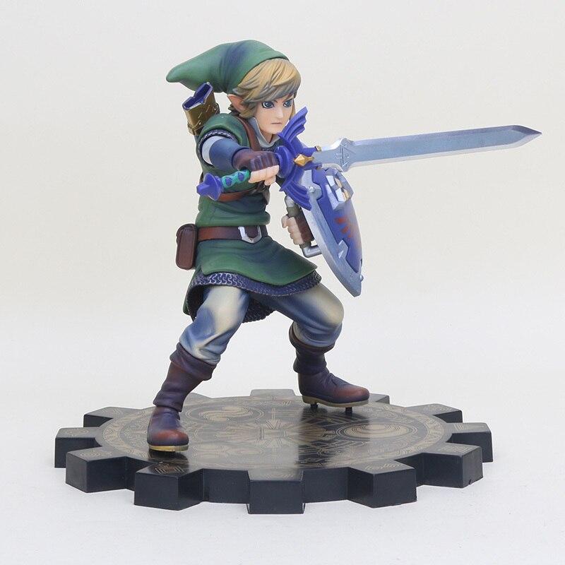 20 cm Gioco The Legend of Zelda Link Skyward Spada PVC Action Figure Model Toy Link 1/7 scale dipinte Figura bambole майка классическая printio link legend of zelda
