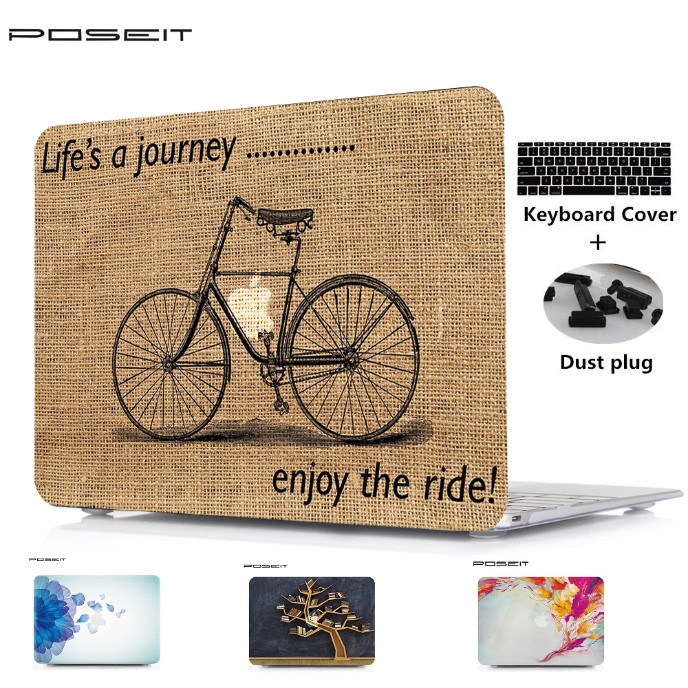 POSEIT Para Alppe Macbook Pro 13 15 Barra de Toque 13 15 ar 11 13 12 13 Pro 15 Retina Laptop Shell Capa + Teclado + Poeira plugue