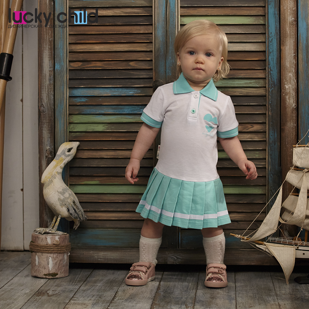 Dresses Lucky Child for girls 40-61 Dress Kids Sundress Baby clothing Children clothes dresses lucky child for girls 50 65 18m dress kids sundress baby clothing children clothes