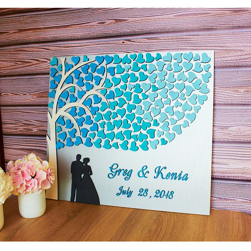 Unique Wedding Guest Book Rustic Personalized Guest Book