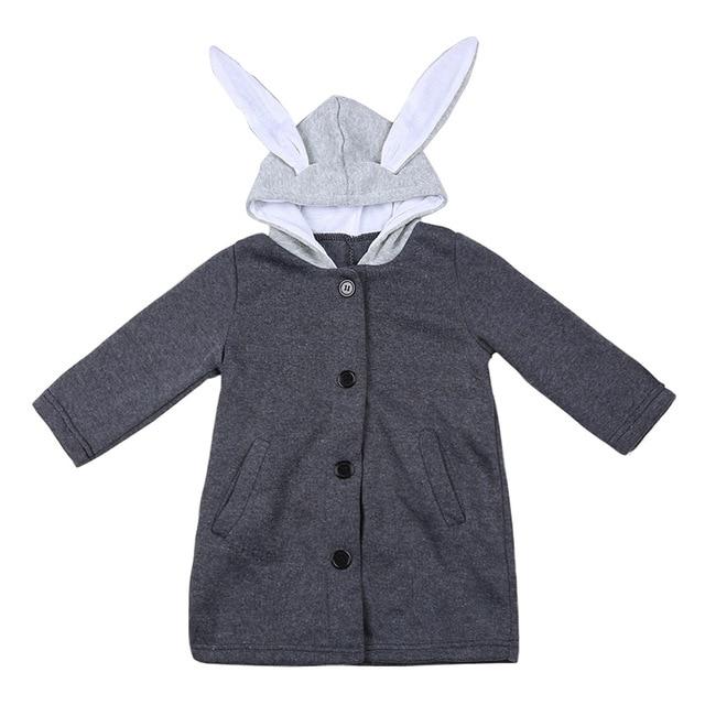 7e59fd70d Cute Rabbit Ear Hooded Baby Girls Coat 2017 Autumn Tops Kids Warm ...