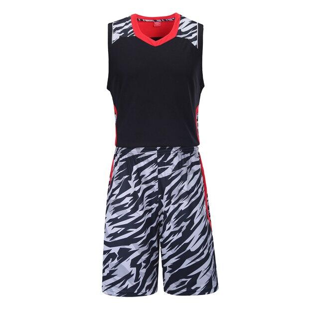 f75914af5327 2018 Men Basketball Jerseys Stripe Sets Uniforms Adult Sports Kit Clothing  Breathable Shirts Shorts Suits DIY Custom Printing