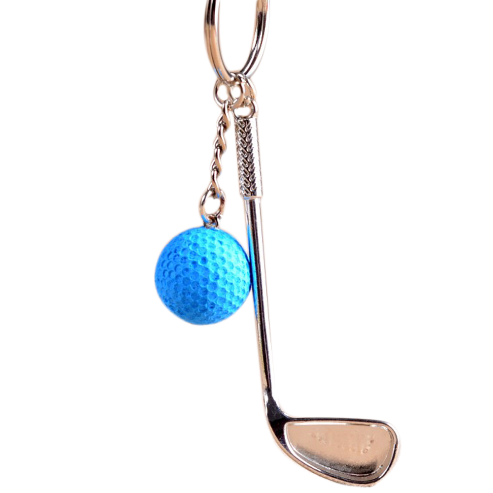 golf keychain cute key ring golf club key chain llaveros hombre high quality portachiavi chaveiro feminino 2018 new fashion