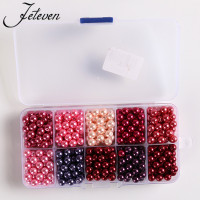 600pcs Box 6mm Round Glass Pearl Beads Mix Color Pearlized Loose Spacer Bead For Jewelry Making