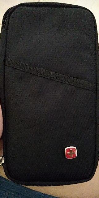 Herenmode Portemonnee Reizen Paspoort Pack Creditcardkaart Ticket Pack Reizen Waterdichte Oxford Portemonnee Organisator Koppeling Geld Tas photo review