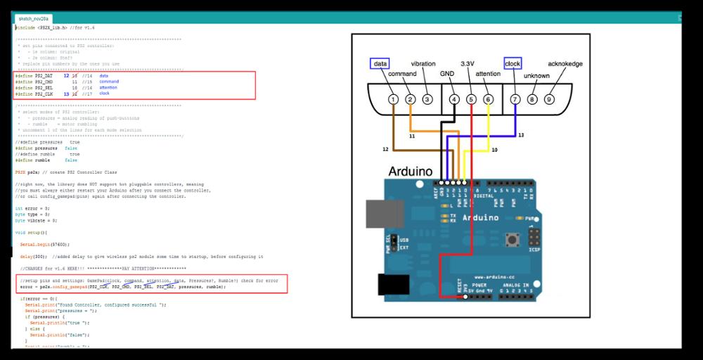 Nartor PS2 Wireless Controller Game Pad Joystick 2 4G Handle Arduino Robot  DIY Platform