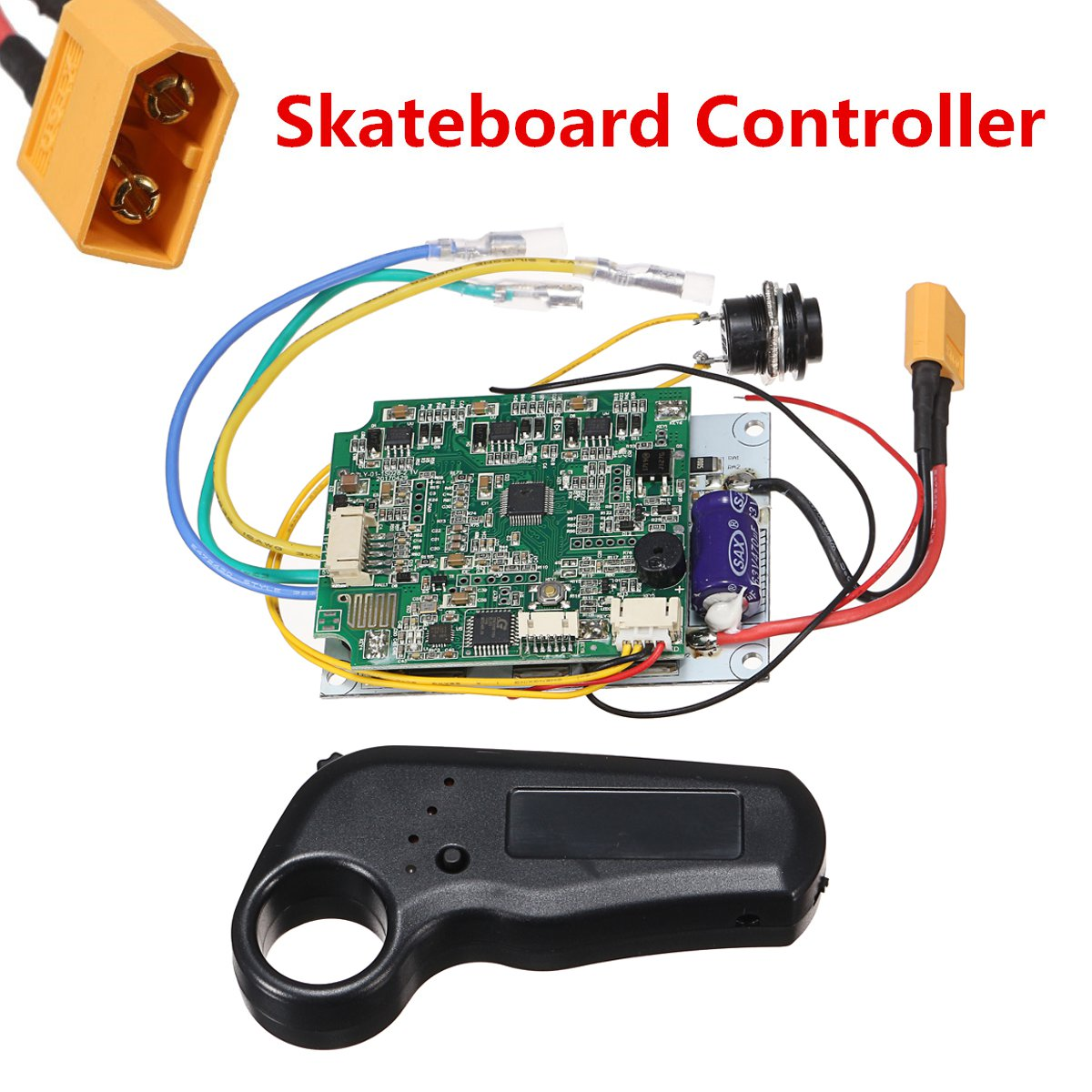 Mini controlador remoto de un solo motor eléctrico de tabla larga de skateboard controlador ESC reemplazo de monopatín eléctrico longboard