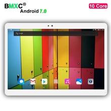Envío Libre BMXC 10 pulgadas tabletas PC 10 Core 3G 4G LTE GPS Android 7.0 4 GB 128 gb/64 gb de Doble Cámara de 8.0MP 1920*1200 IPS pantalla
