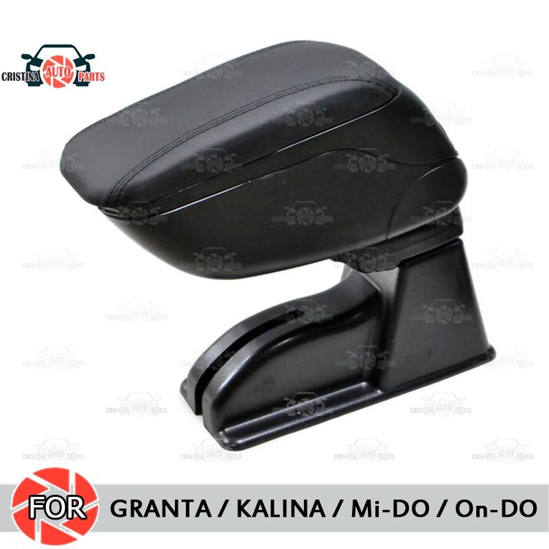 Pour Lada Granta/Kalina/Datsun mi-do accoudoir de voiture console centrale boîte de rangement en cuir cendrier accessoires style de voiture