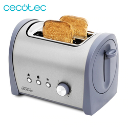 Cecotec Steel & Toast 2S 800W Bread Toaster Capacity for 2 Toasts Defrost and Reheat Function Automatic Shutdown and Pop-up