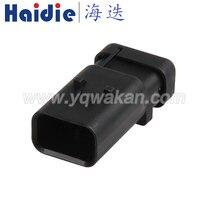 Kostenloser versand 2sets 3pin tyco auto kabelbaum stecker stecker elektrische wasserdichten stecker 776430-1 776535-1
