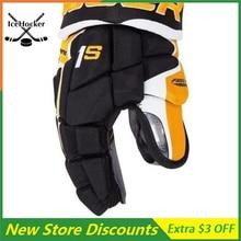 Новое поступление, перчатка для хоккея с шайбой, черная/золотистая, Supreme, взрослая, 13 дюймов, 14 дюймов, бесплатная доставка
