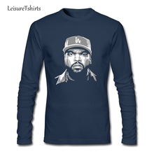 Ice Cube Man T Shirt Popular Customized Comfortable T-Shirt Men Long Sleeve O Neck Tshirt Teenage Latest Simple Tee Shirt
