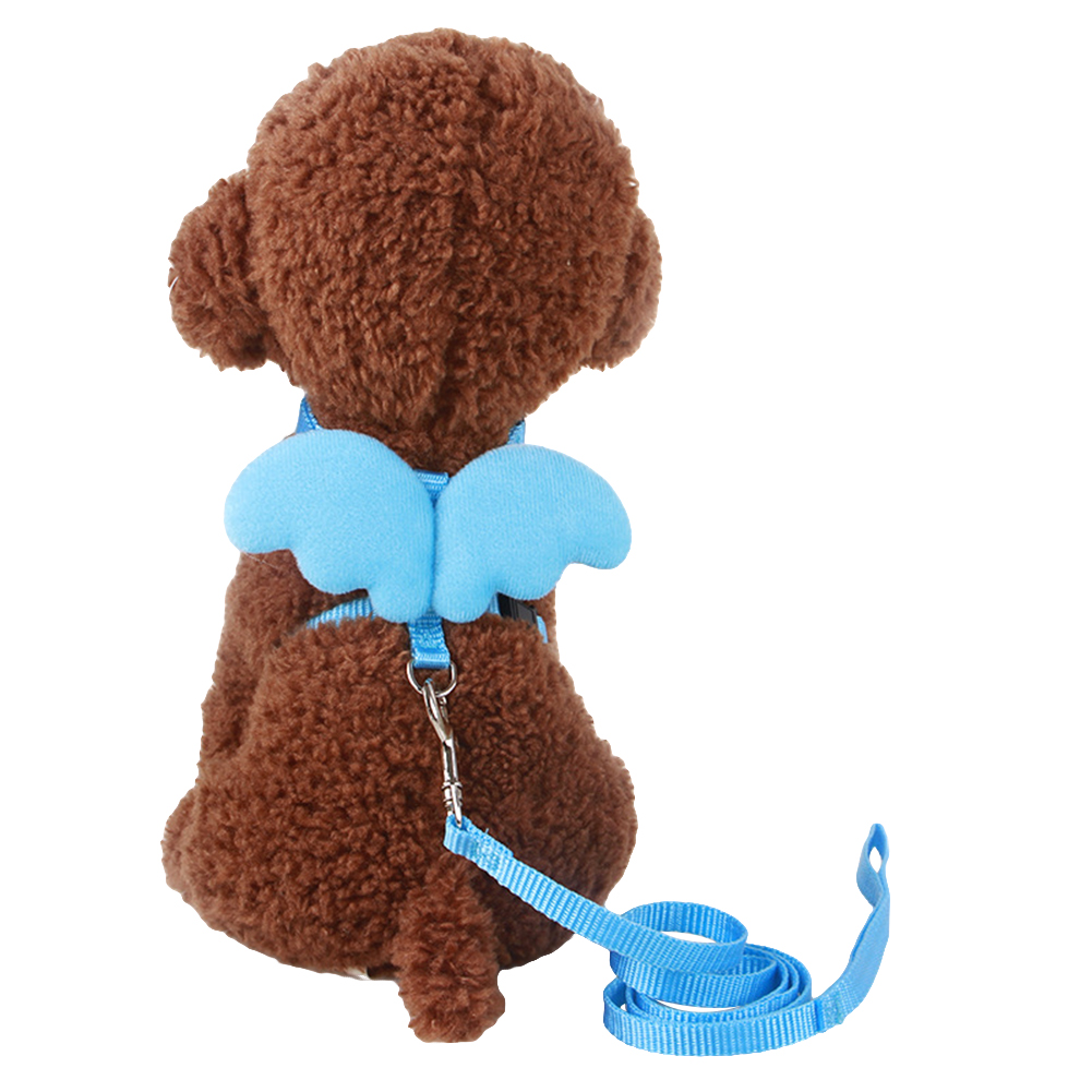 TINGHAO Cute Angel Wing Adjustable Dog Pet Leash Traction Training Lead and Collars Set