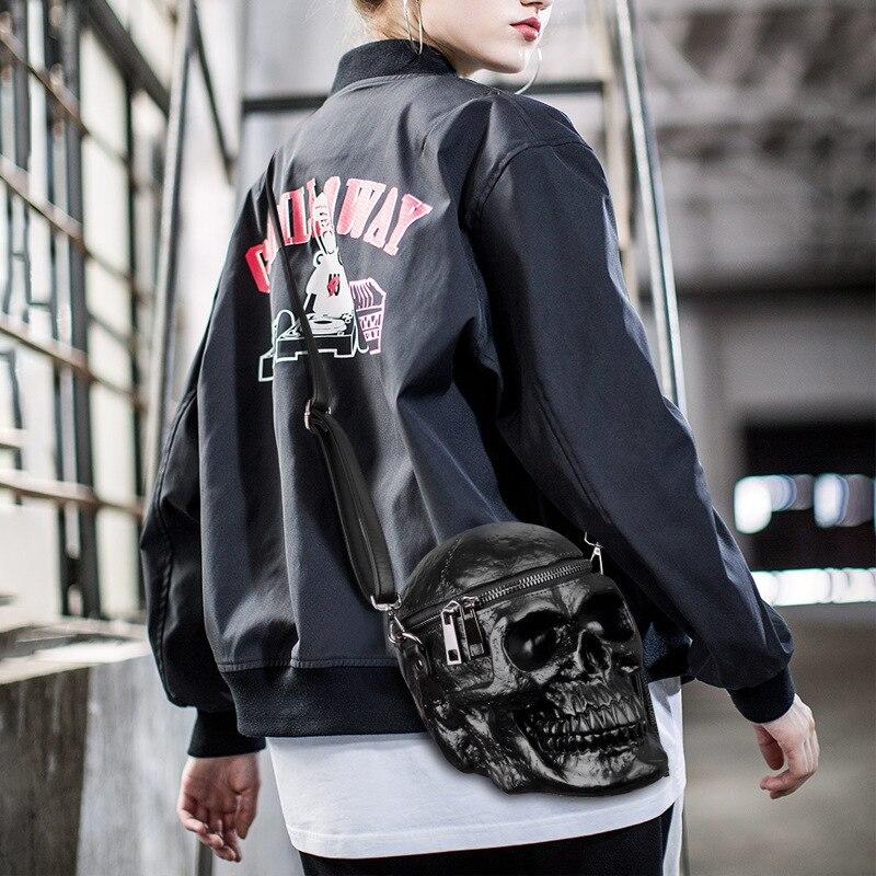 Arsmundi оригинальность сумка женская смешная Скелетная головка черная рюкзак Мужской одиночный пакет мода дизайнер ранец пакет Сумки для черепа сумка женская натуральная кожа - 5