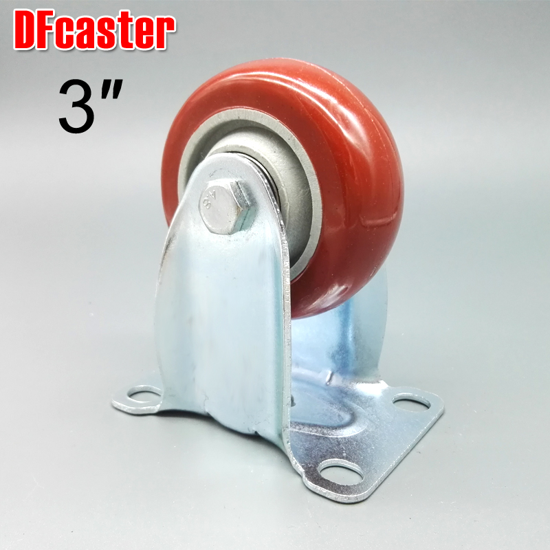 3 inch casters Directional Caster Heavy Load carrying 100kg Furniture wheel High quality Castor Double bearing PU Trolley Wheels стоимость