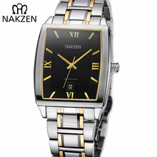 7dacfde6da7 NAKZEN Quartzo Marca Legal Relógio de Safira À Prova D  Água Importação  Japonês Relógio Movimento