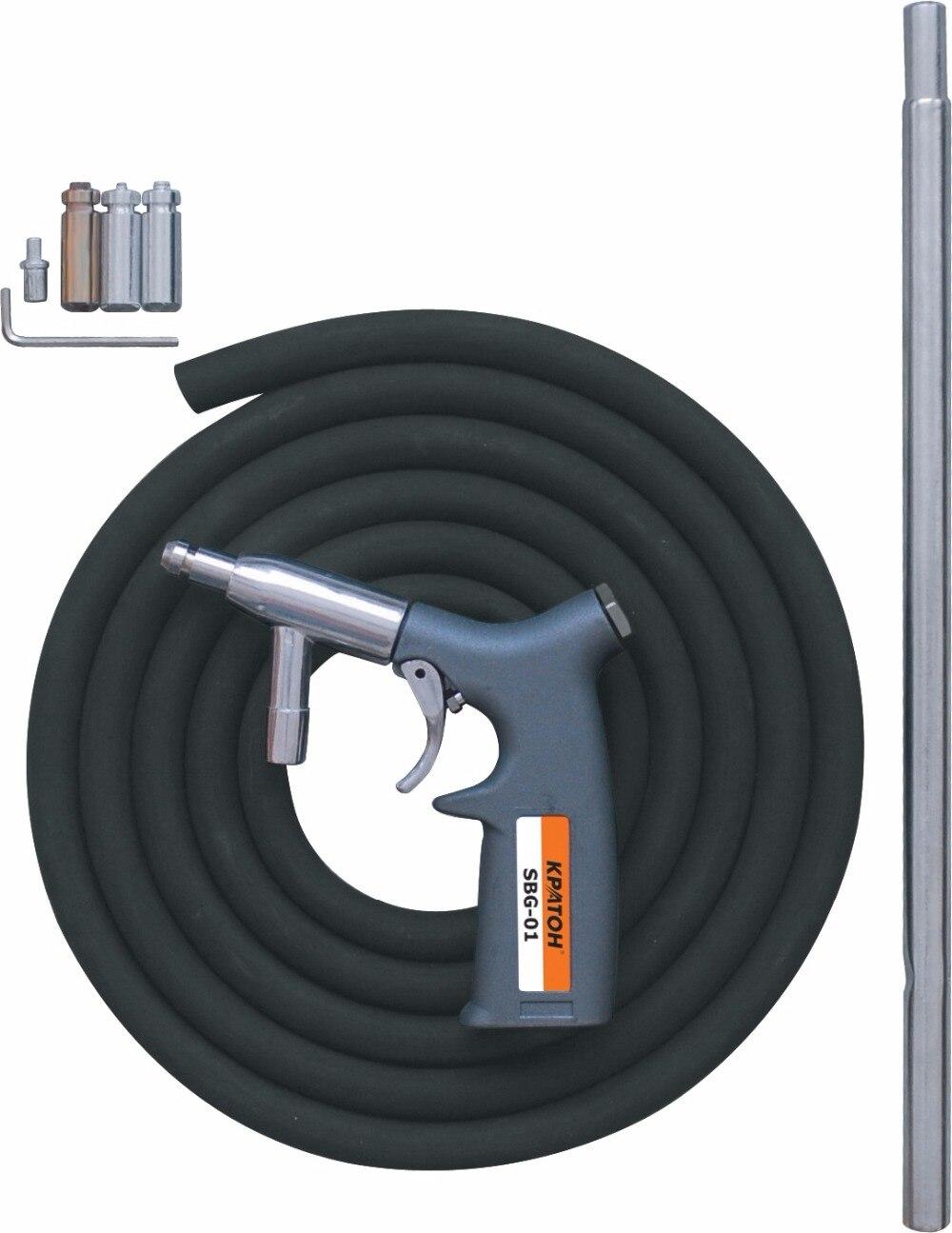 Pistol sandblasted Kraton SBG-01 pistol dispenser metal 7 positional kraton medium