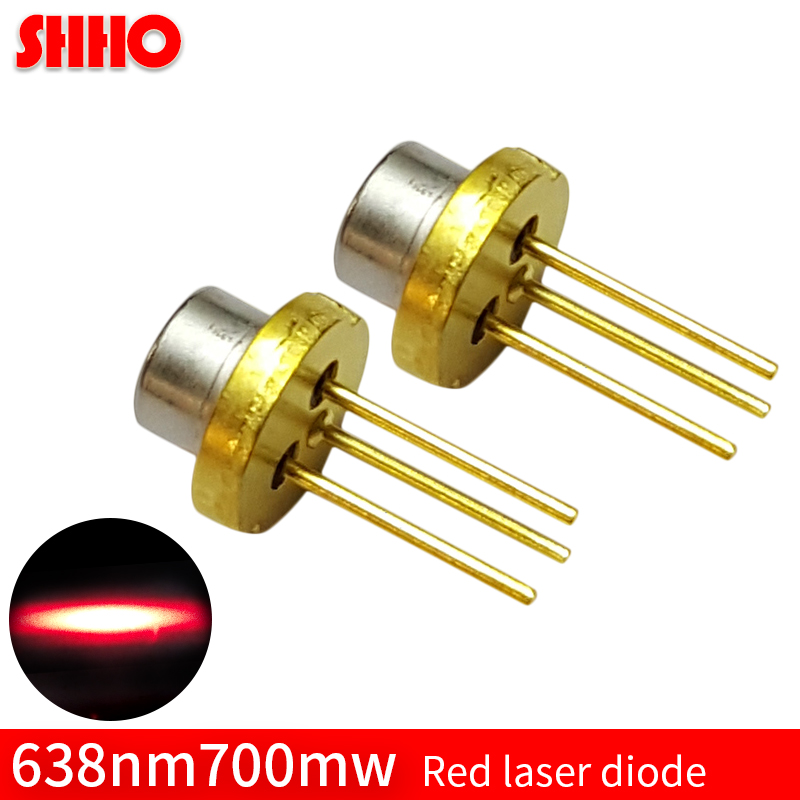 Performance stability high power high quality TO18/5.6mm 2.5V 638nm 700mw red laser diode laser semiconductor electronic parts все цены