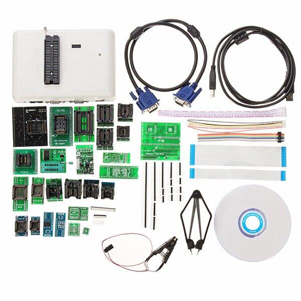 НОВЫЙ 38 шт. оригинальный RT809H EMMC-Nand Flash очень быстро универсальный программатор комплект программист адаптеры с кабелями ISP кабели