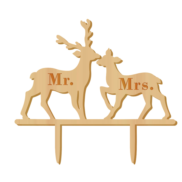 Free Shipping Buck And Doe Mr & Mrs Cake Topper The Hunt Is Over ...