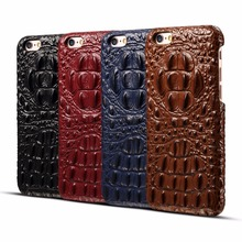 Luxury Genuine Leather Case For iPhone 6 6S 6plus 7 7plus Note Pouch 3D Crocodile Skin Back Cover iphone Phone Bag