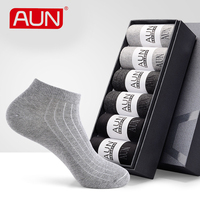 Men Short Socks 6 Pairs For Dress Men S Deodorant Grey New Year S Cotton Polyester