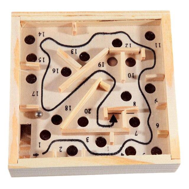 Mini jogo de Tabuleiro Jogo de Labirinto Bola Labirinto De Madeira Puzzle Brinquedos Artesanais Novas Crianças Brinquedos Educativos Brinquedo Antistress