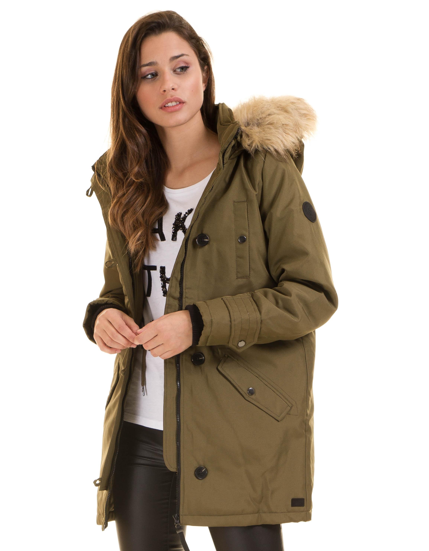 Tienda online código promocional atractivo y duradero vero moda mujer abrigos parka corta de con capucha con pelo ...