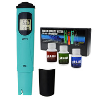 Digital Pen type pH & Temperature Meter ATC, 0.00 14.00pH & 0.0 55.0degC +/ 0.1pH High Accuracy for Aquarium Hydroponics