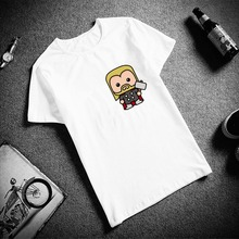 Fashion Short Sleeve T Shirt Women Avengers Superhero Simple Print 100% Cotton Top Tees Casual O Neck T-Shirt Unisex Streetwear