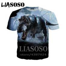 LIASOSO Anime Jurassic World 3d stampa t shirt t-shirt Donna casual dinosauro Harajuku Animale Divertente tees top horror tshirtD284(China)