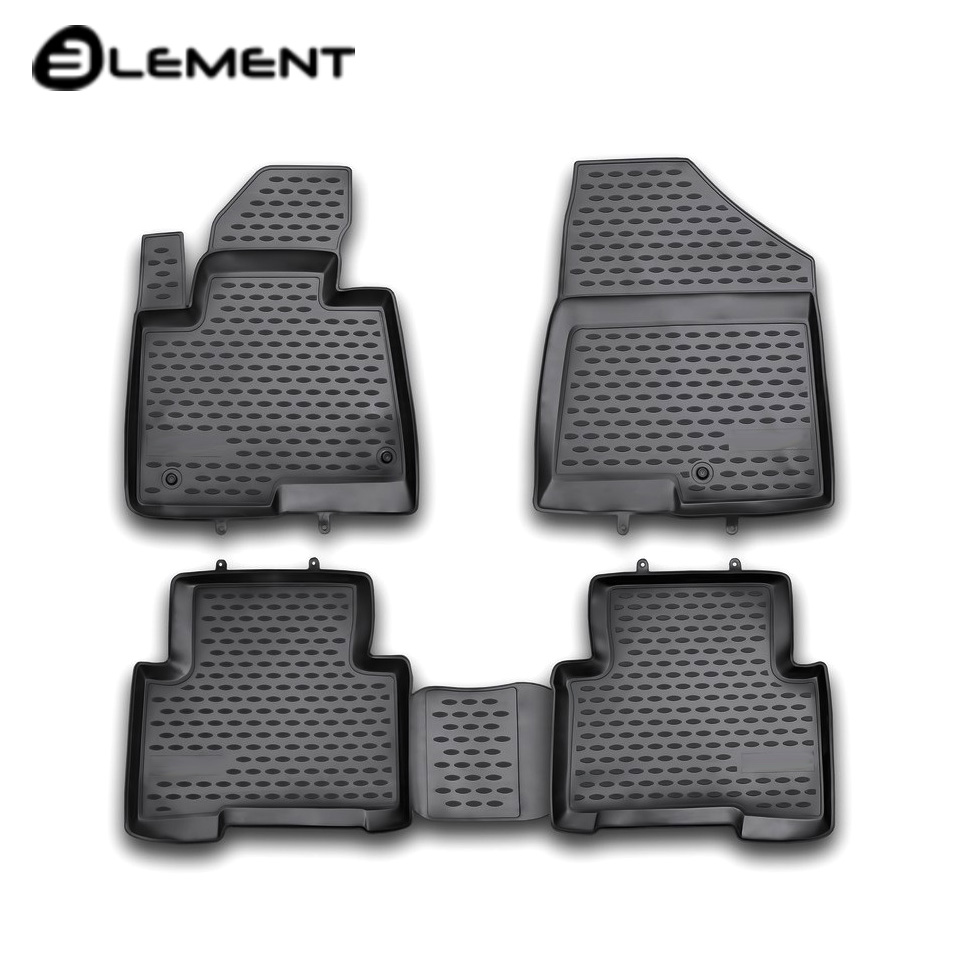 For Hyundai Santa Fe III 2012-2017 floor mats into saloon 4 pcs/set Element NLC2053210H full set cables for digiprog iii odometer programmer