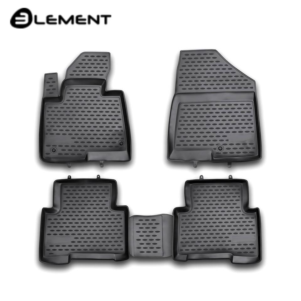 For Hyundai Santa Fe III 2012-2017 floor mats into saloon 4 pcs/set Element NLC2053210H santa claus christmas hanging gadgets set 3 pcs