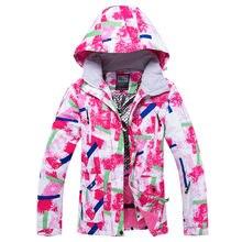 RIVIYELE Для женщин лыжная куртка сноуборд Костюмы ветрозащитный  Водонепроницаемый уличная спортивная одежда Зимнее пальто утепл. 755123c365a