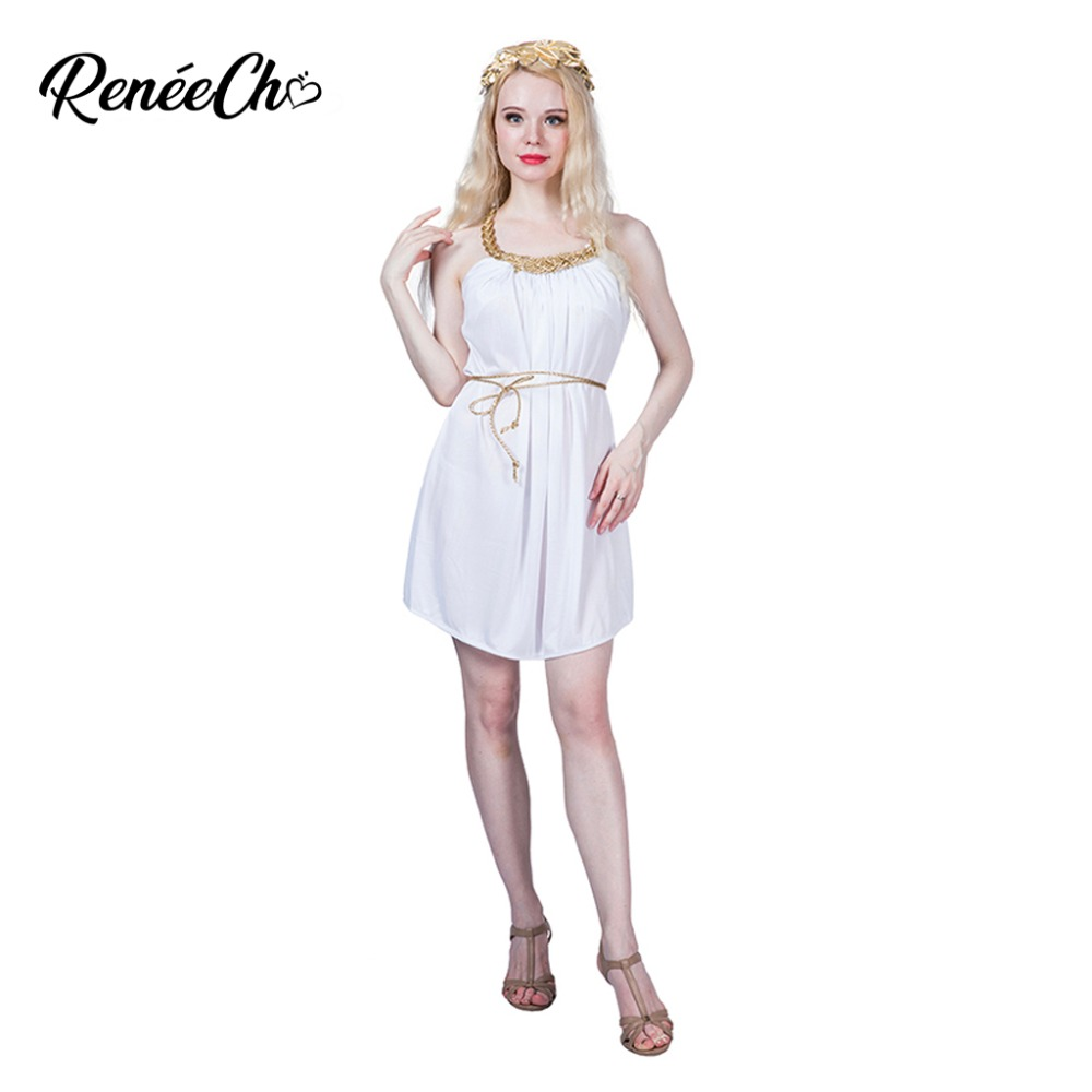 430b0bfcd62 US $16.09 35% OFF|Halloween Costumes For Women Grecian Dress White Greece  Toga Goddess Cosplay Sexy Fancy Dress For historical Carnival Party on ...